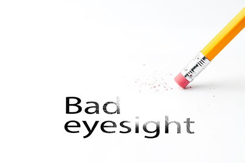 bad eyesight